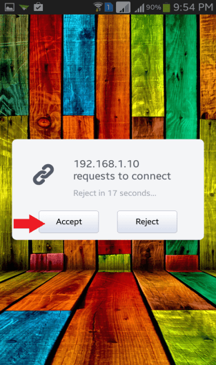 AirDroid Accept
