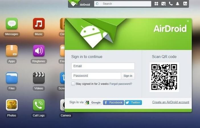 AirDroid Browser Login