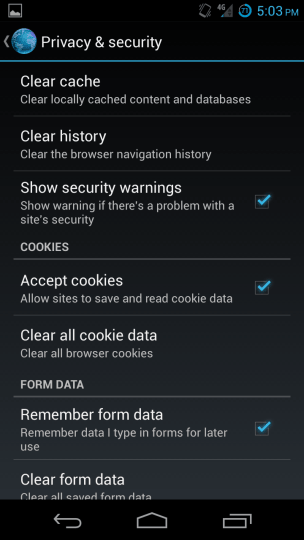 Browser Clear History
