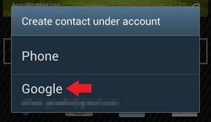 Create Contact Google