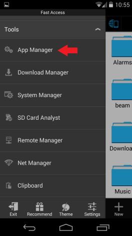 ES Explorer App manager