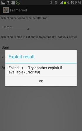 Framaroot Failed