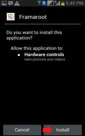 Framaroot Install