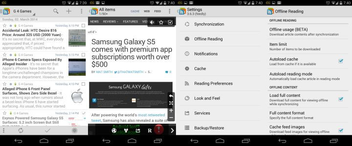 gReader Android RSS App