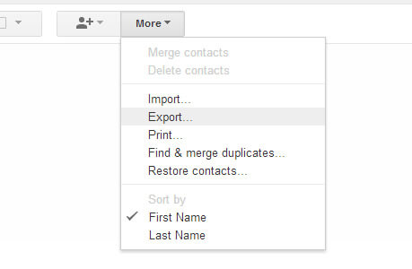 Google More Export