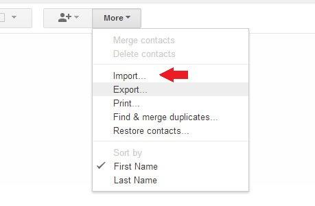 Google More Import