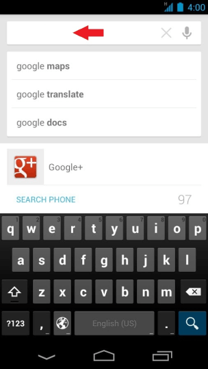 Google Search Text