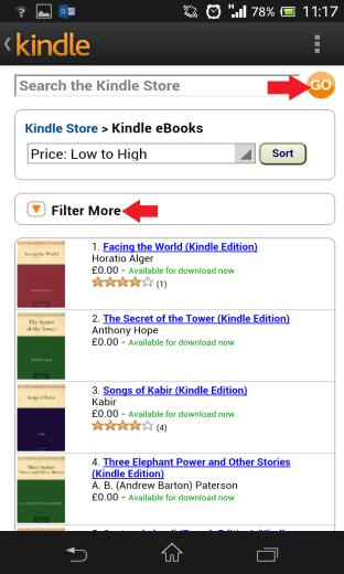 Kindle Search Books