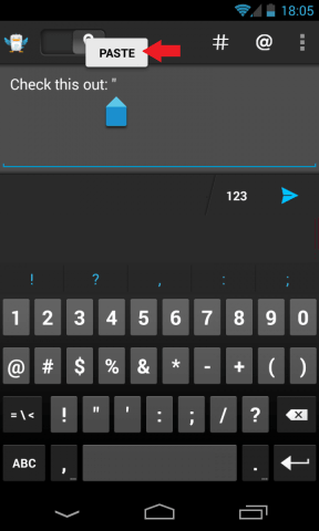 Paste Text Android