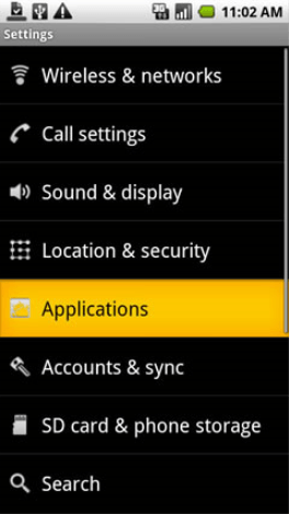 Settings Applications