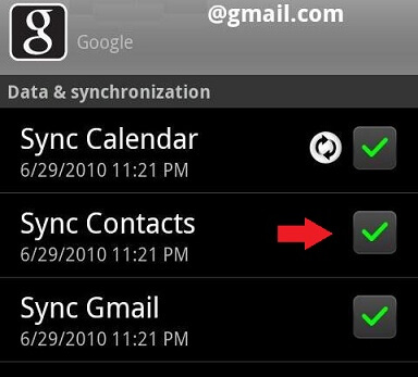 Sync Contacts Google