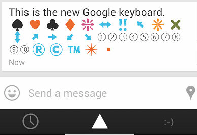 this is your new keyboard with emoji