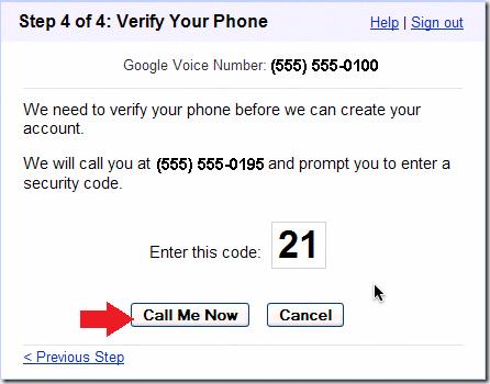 Call Me Google Voice