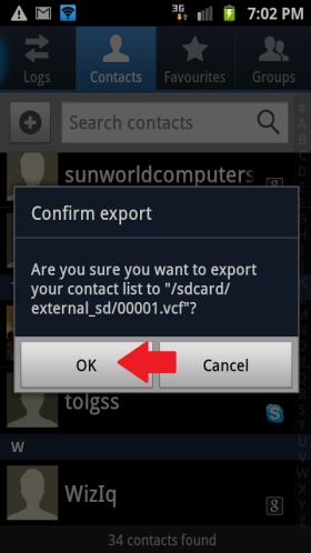 Confirm Export
