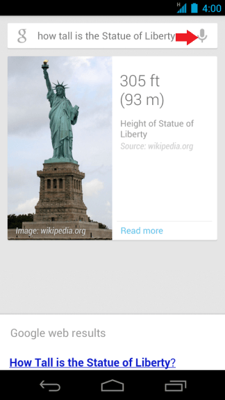 Google Now Microphone