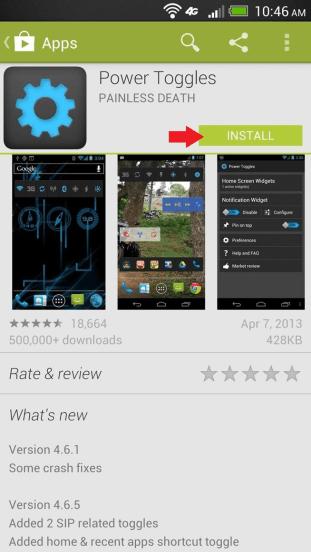 Google Play Install