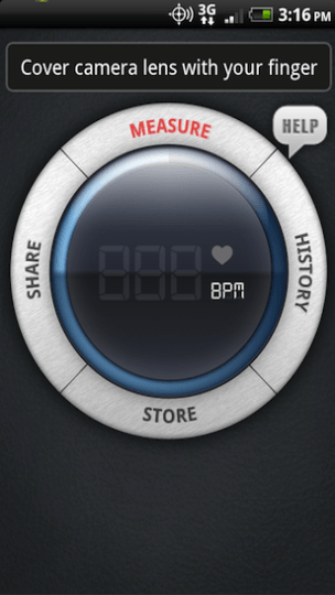 Instant Heart Rate Menu