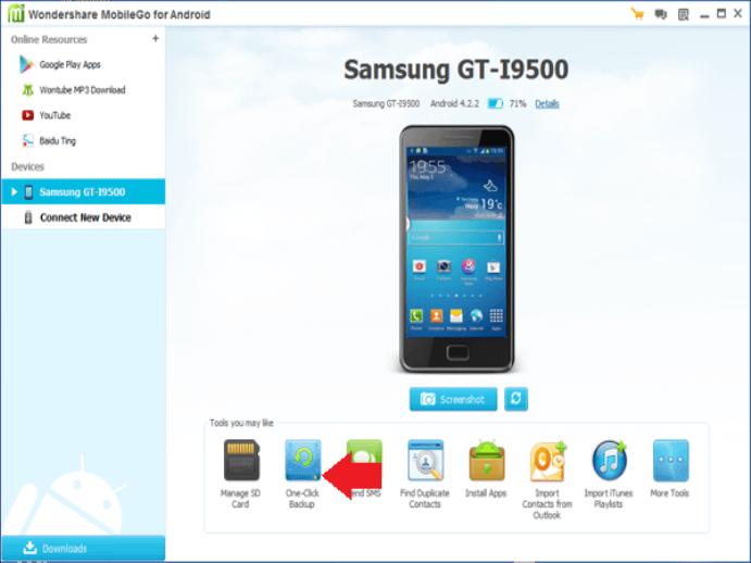 MobileGo Homescreen