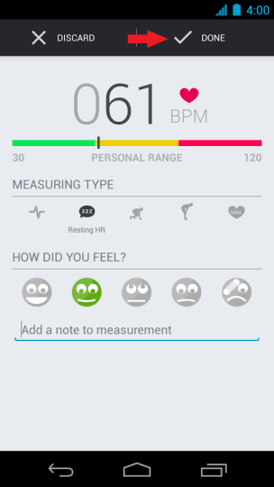 Runtastic Measurement