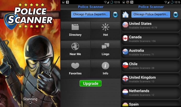 5 free police scanner app for Android