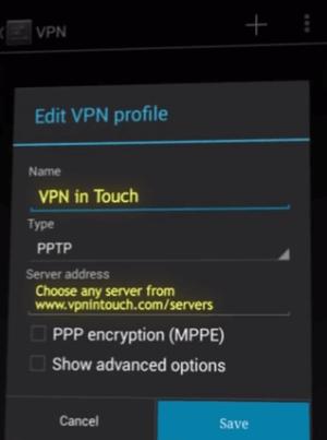 edit vpn profile