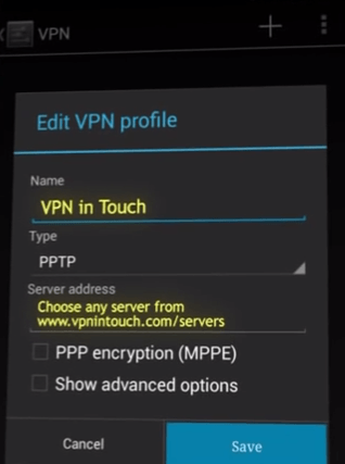 edit vpn profile