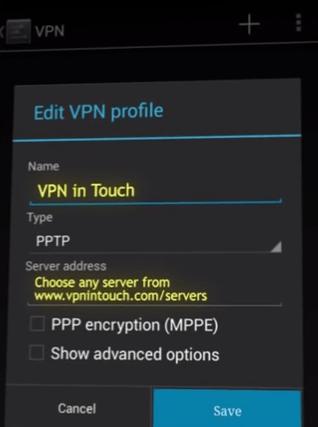 Vpn profile editor