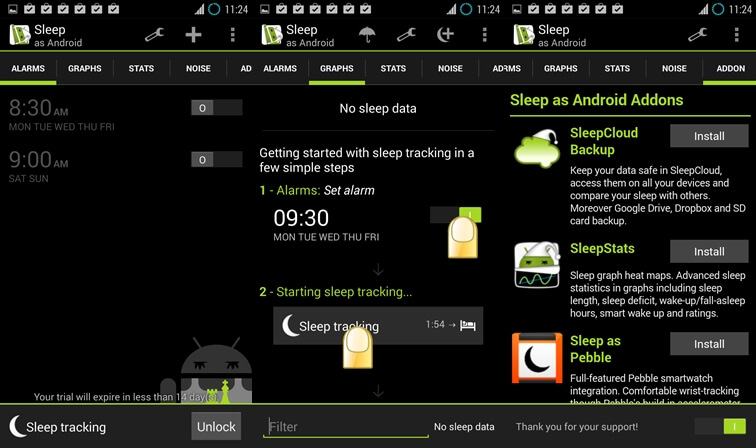 sleep as android sleep cycle app for android