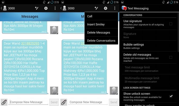 QuickTouch Text Messaging