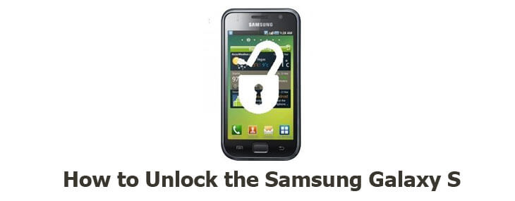 How to unlock samsung galaxy s