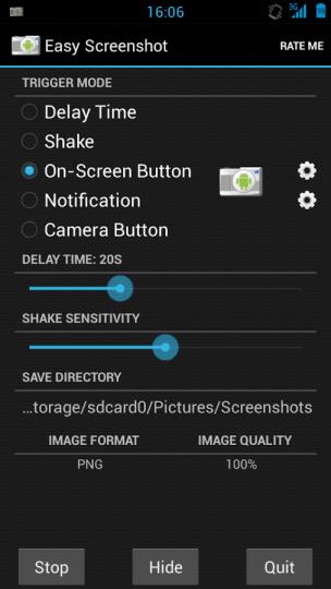 aScreenshot Triggers