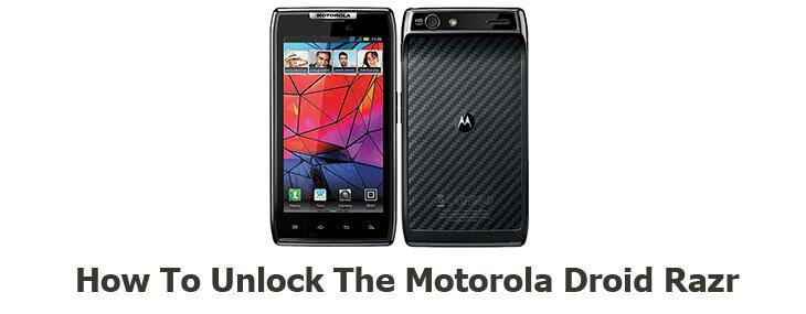 how to unlock Motorola Droid Razr