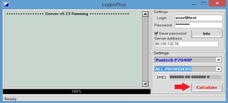 Login Plus Calculate