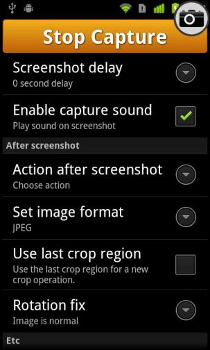 Screenshot UX Options