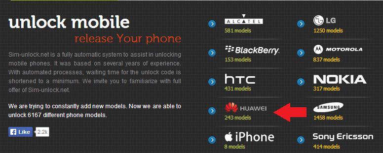 Sim Unlock Huawei
