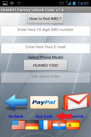 Unlock Huawei Buy
