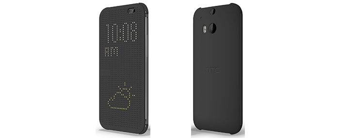dot view flip case  for htc one