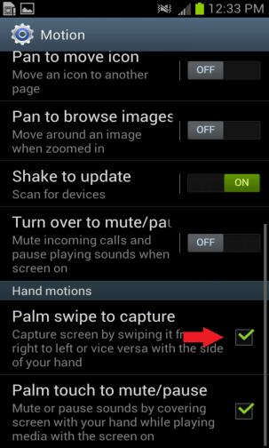 palm swipe