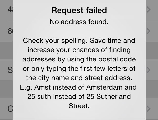 request failed
