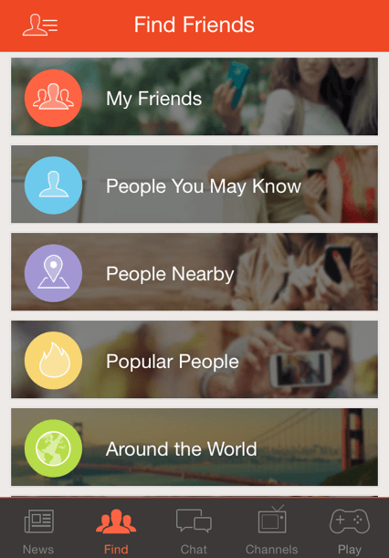 tons of ways to find friends