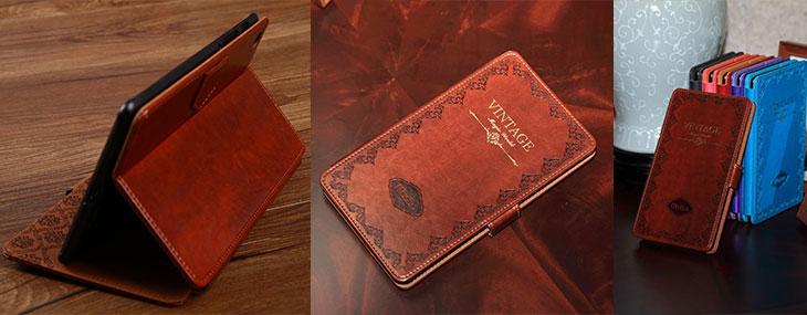vintage retro book case for nexus 7