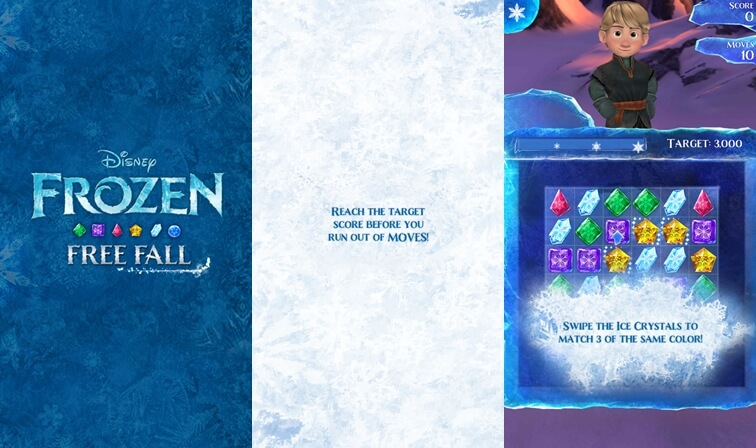 Frozen Free Fall disney apps for android