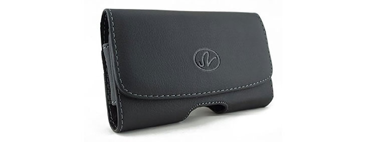 Leather Case Holster Side Pouch with Belt Clip