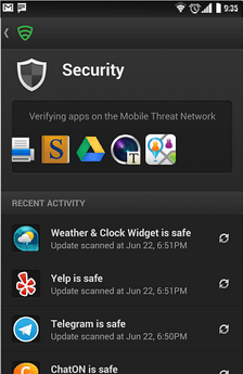 scan apps for virus and malware