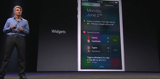 widgets on ios8