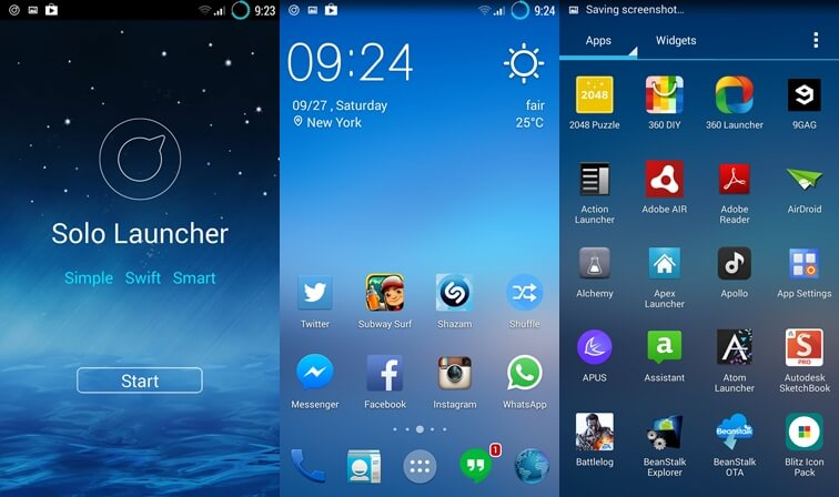 new launcher for android 2014