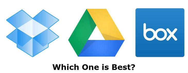 Box vs Dropbox vs Google Drive Android