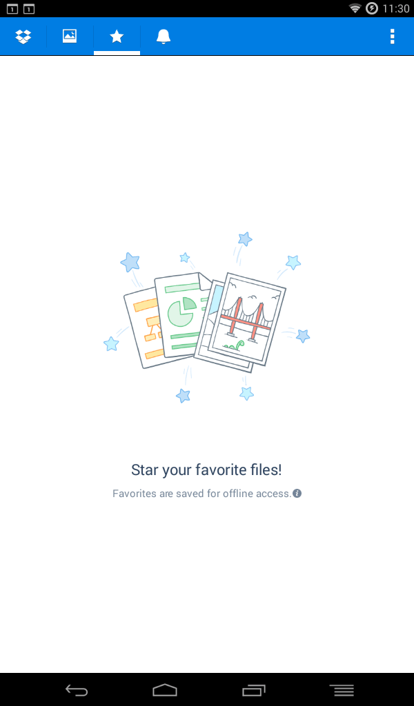 dropbox favorites