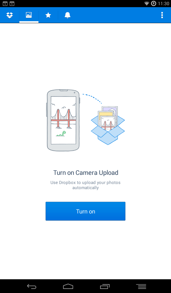 dropbox photo feature