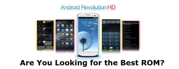 install Android Revolution HD custom ROM on Samsung Galaxy S3